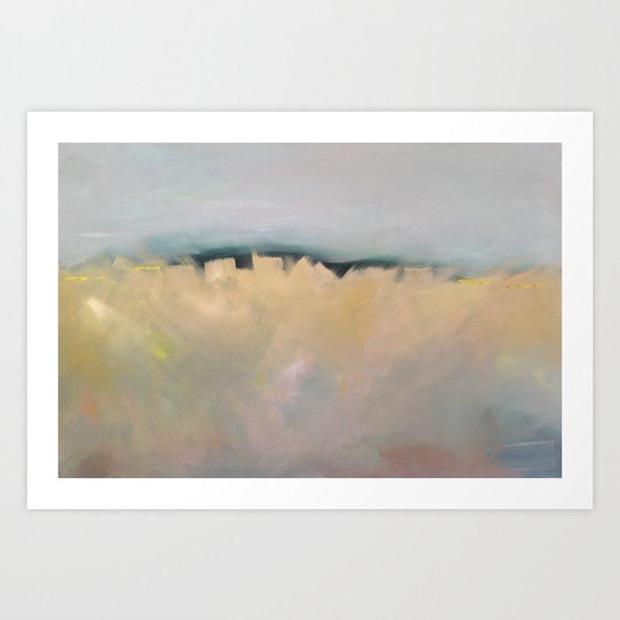 Field of wheat, Northern France Art Print