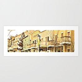 smalltown world Art Print
