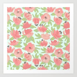 Watercolor Blooms Art Print