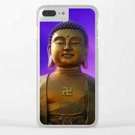 Buddha Blue Dawn Clear iPhone Case