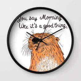 Morning sucks Wall Clock