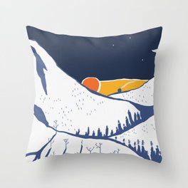 Mountain mysteries Throw Pillow