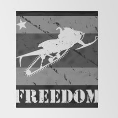 FREEDOM! Snowmobile Throw Blanket