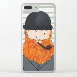 Man With A Hat Clear iPhone Case
