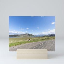 Road past Loch Loyal Mini Art Print