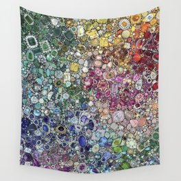 Diamonds, Jewels, (Gems & The Hologram) Wall Tapestry