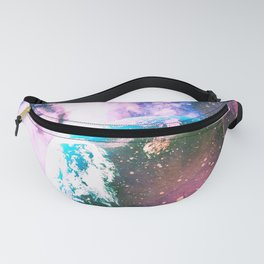 Space Earth Watercolor Fanny Pack
