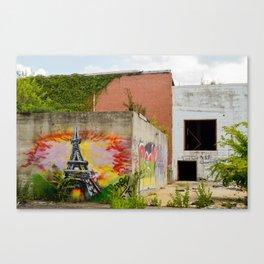 Eiffel Tower Grafitti Canvas Print