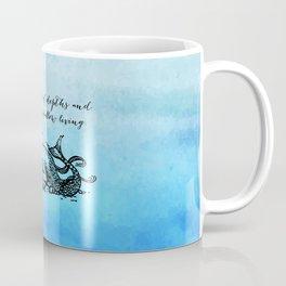 Anais Nin - Great Fear of Shallow Living Coffee Mug