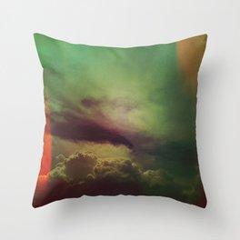 rising clouds Throw Pillow