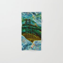 Abstract rocks with barnacles and rock pool Hand & Bath Towel