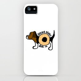 The Baking Beagle Bagel Co. iPhone Case
