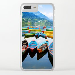 Peacefull Lake Clear iPhone Case