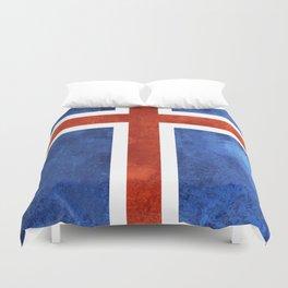 Icelandic Flag Duvet Cover
