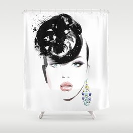 Fashion Painting #6 Shower Curtain