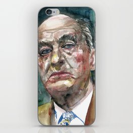 NABOKOV VLADIMIR - watercolor portrait.2 iPhone Skin