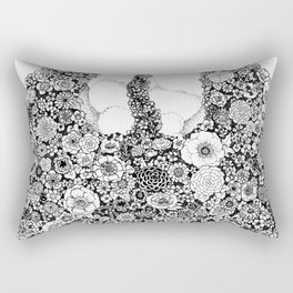 Anatomy Series: Thyroid Gland Flowers Rectangular Pillow