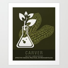 Science Posters - George Washington Carver - Botanist Art Print