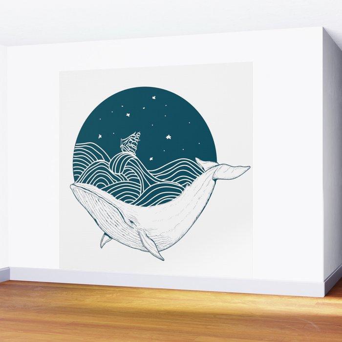 Whale dream Wall Mural