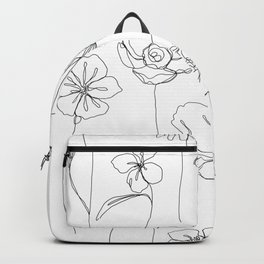 Botanical illustration drawing - Botanicals White Backpack