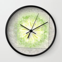 Triptychs Unveiled Flower  ID:16165-114729-45271 Wall Clock