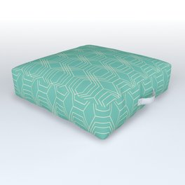 hopscotch-hex sea Outdoor Floor Cushion