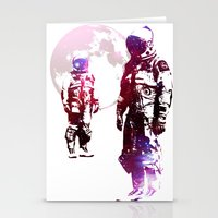men Stationery Cards featuring Space Men by rubbishmonkey
