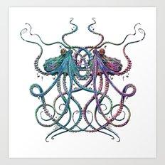Underwater Love Art Print