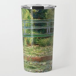 Bridge over a Pond of Water Lilies - Monet Travel Mug