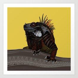 iguana gold Art Print