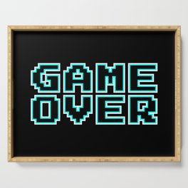 GAME OVER (blue) Serving Tray