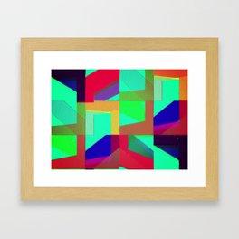 Colorful Truth. Green. Framed Art Print