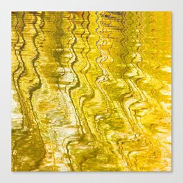Golden Reflection on Surface Of Lake #decor #society6 #buyart Canvas Print
