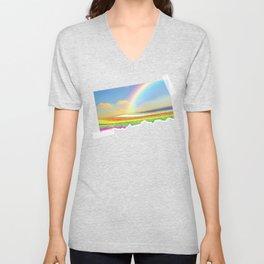Ocean Of Rainbows | Reflection Refraction And Dispersion - Scrapbook Art Unisex V-Neck