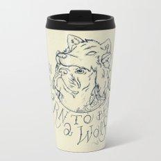Born to be a Wolf Metal Travel Mug