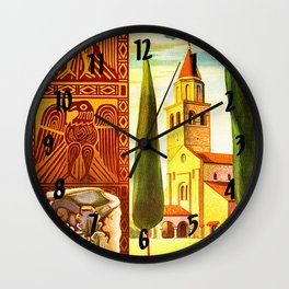 Aquileia Italy - Vintage Travel Wall Clock
