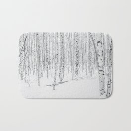 Swedish Birch Trees Bath Mat