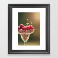 One of my favorite things about summer..... Framed Art Print