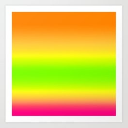 Summer Colors Gradient Art Print