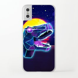 Electric Jurassic Rex - Dominate the Planet Clear iPhone Case
