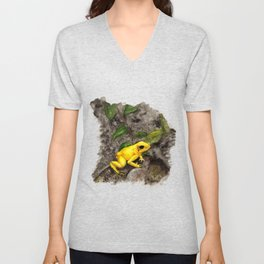 Golden Frog Unisex V-Neck