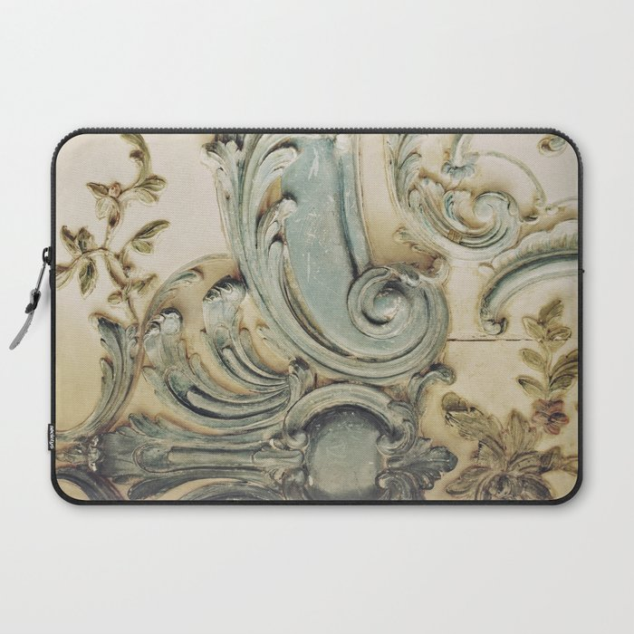 Blue Lace of Versailles Laptop Sleeve