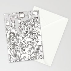 Coffee Scene Stationery Cards