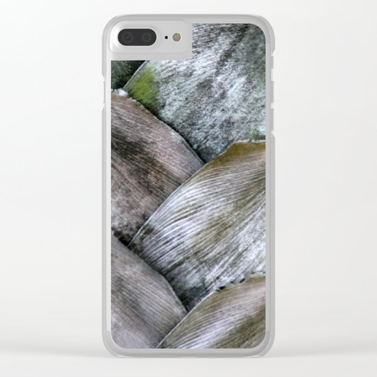 Palm pattern Clear iPhone Case