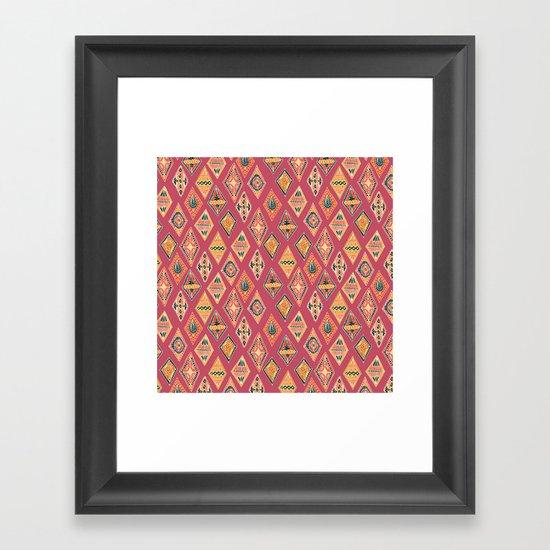 Desert Diamonds Pattern Framed Art Print
