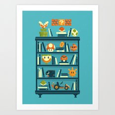 Mario Shelf Art Print