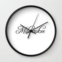 milwaukee Wall Clocks featuring Milwaukee by Blocks & Boroughs