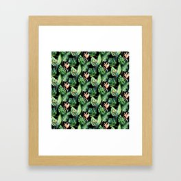 Tropical Print Pattern Framed Art Print