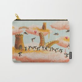 a celebration of penguins in the clouds Carry-All Pouch