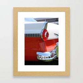 Peppermint Fin Framed Art Print